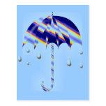 Paraguas de la primavera tarjeta postal