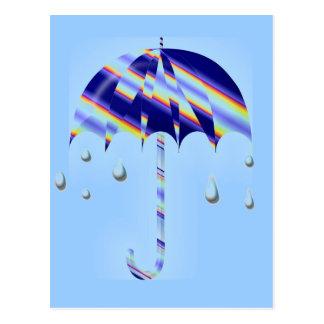 Paraguas de la primavera postal