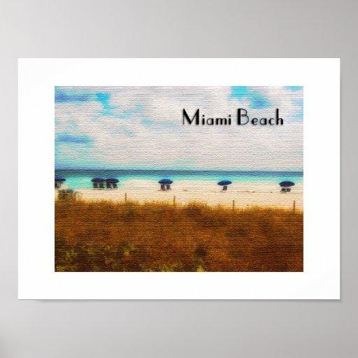 Paraguas de Miami Beach Póster