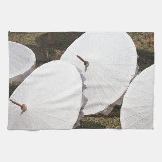 paraguas de papel toalla de cocina