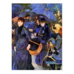 Paraguas de Pedro-Auguste Renoir- Postal