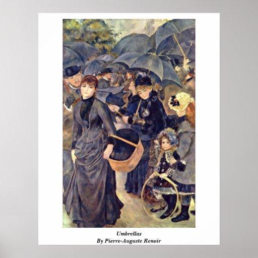Paraguas de Pierre-Auguste Renoir Póster