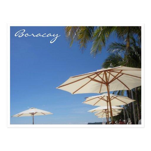 paraguas de relajación de Boracay Postales