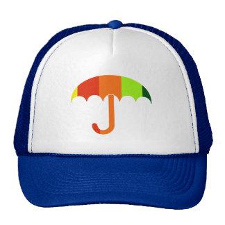 Paraguas del arco iris gorras de camionero