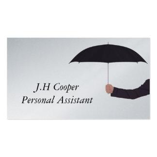 Paraguas del ayudante personal tarjetas de visita