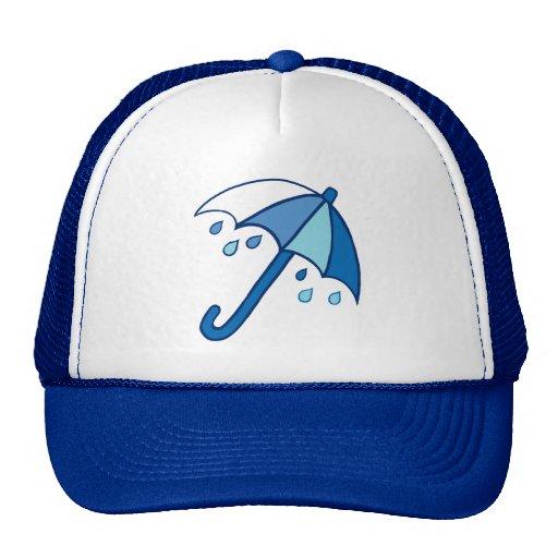 Paraguas del día lluvioso gorros