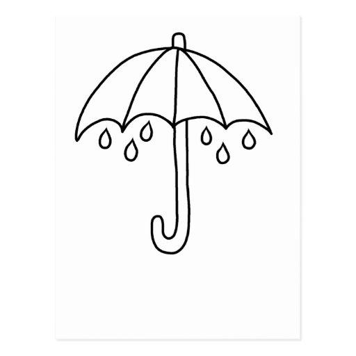 Paraguas del día lluvioso tarjetas postales