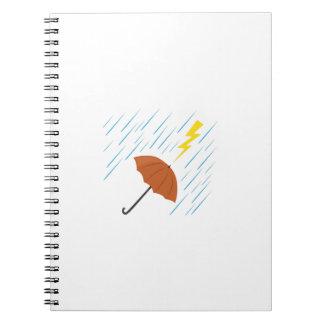 Paraguas del relámpago libreta