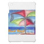 Paraguas del reloj de la playa