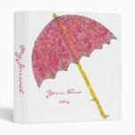 Paraguas del rosa del arte de la comida