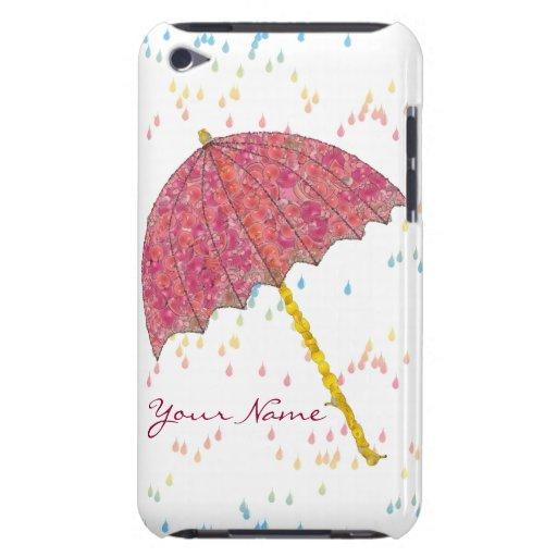 Paraguas del rosa del arte de la comida iPod touch Case-Mate funda