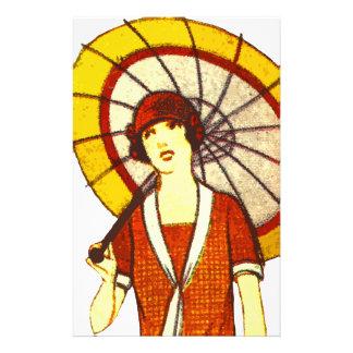 Paraguas del vintage papelería