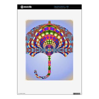 Paraguas del vitral iPad skins