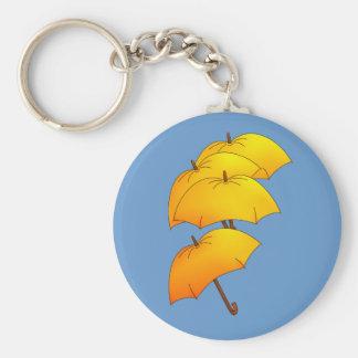 Paraguas del vuelo llavero redondo tipo pin
