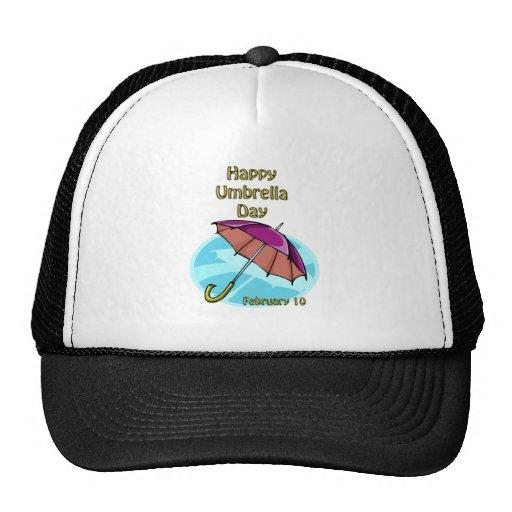 Paraguas día 10 de febrero feliz gorra