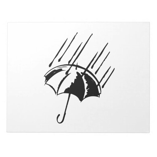 Paraguas en la lluvia libreta para notas