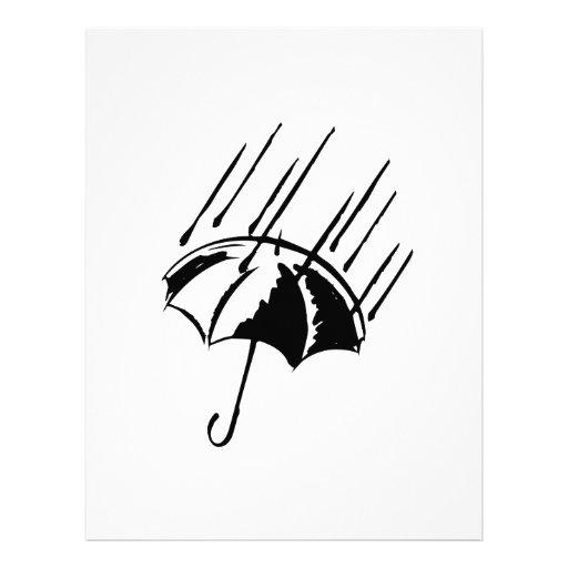 Paraguas en la lluvia membrete