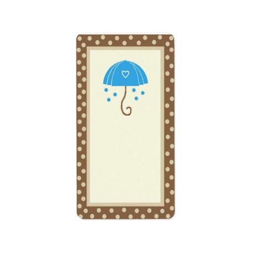 paraguas etiquetas de dirección