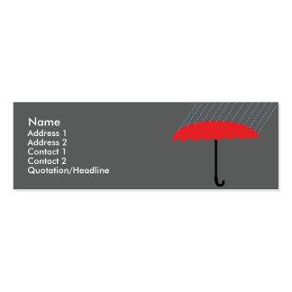 Paraguas - flaco tarjetas de visita mini