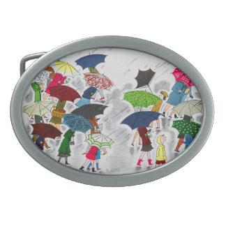 Paraguas Hebillas Cinturón Ovales