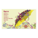 Paraguas hermoso de la flor y del pájaro/parasol plantillas de tarjeta de negocio