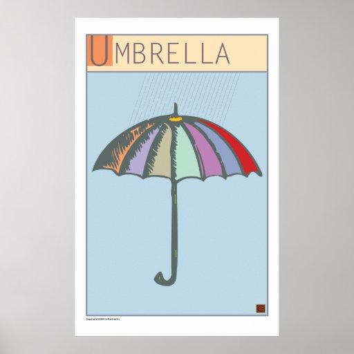 Paraguas-Impresión Posters