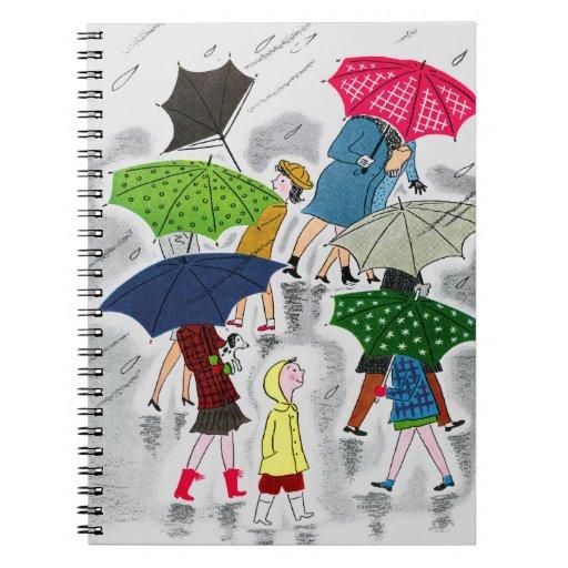 Paraguas Libro De Apuntes Con Espiral