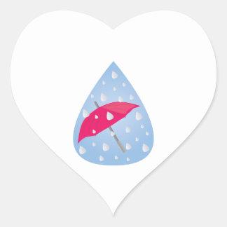 Paraguas lluvioso calcomanías de corazones personalizadas