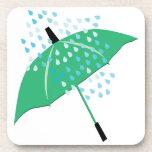 Paraguas lluvioso posavaso