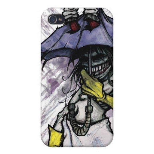 paraguas-monstruo iPhone 4 carcasa
