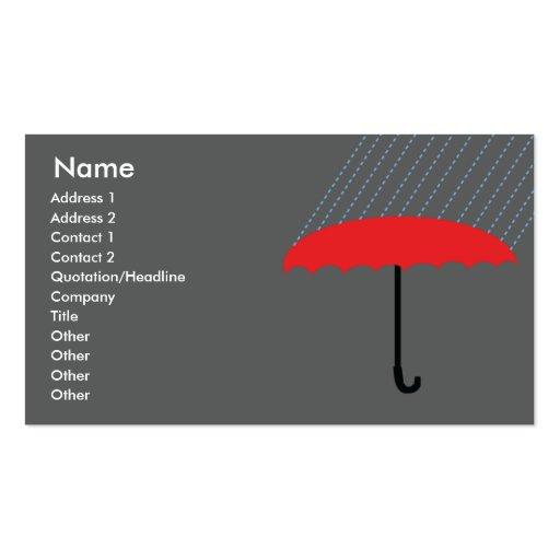 Paraguas - negocio tarjeta de visita