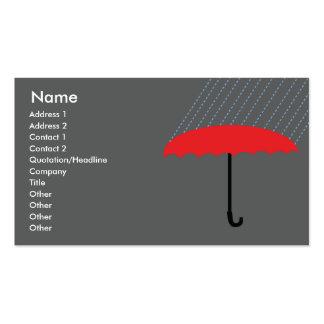 Paraguas - negocio tarjetas de visita