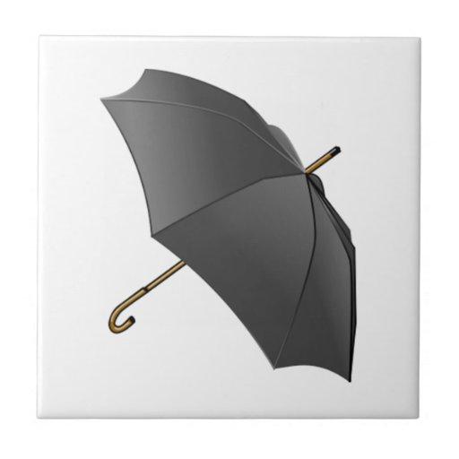 Paraguas negro azulejo cuadrado pequeño