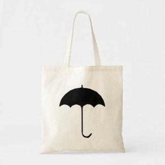 Paraguas negro bolsas