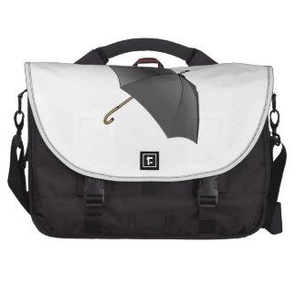 Paraguas negro bolsa de ordenador