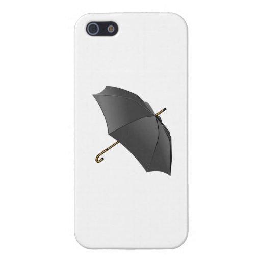 Paraguas negro iPhone 5 fundas
