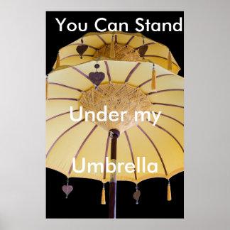 Paraguas Posters