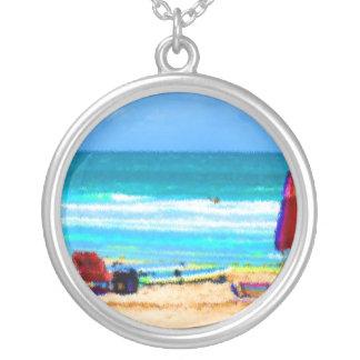 paraguas painterly de las tablas hawaianas de las  pendientes personalizados