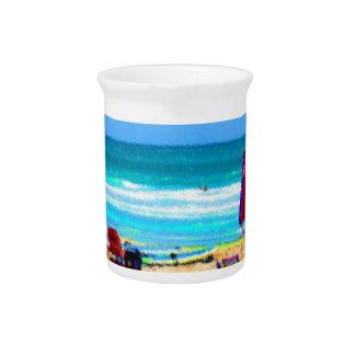 paraguas painterly de las tablas hawaianas de las  jarrón