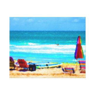 paraguas painterly de las tablas hawaianas de las  lona envuelta para galerías