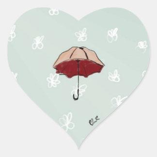 Paraguas Calcomanía Corazón