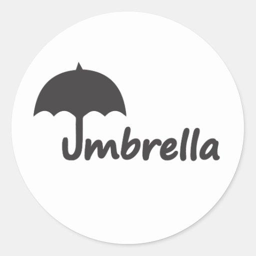 Paraguas Pegatina Redonda