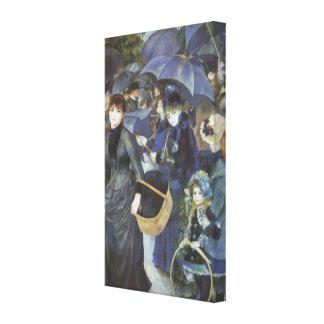 Paraguas por Renoir, arte del impresionismo del Lona Envuelta Para Galerias
