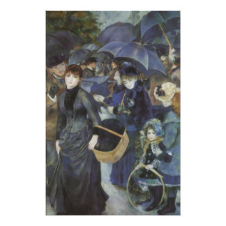 Paraguas por Renoir, arte del impresionismo del Póster