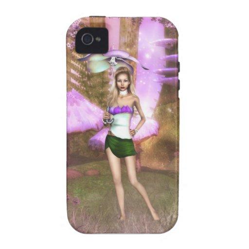 Paraguas púrpura iPhone 4/4S carcasas