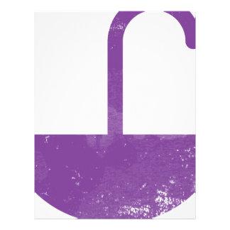 Paraguas púrpura plantillas de membrete