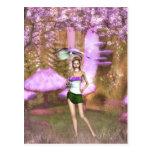 Paraguas púrpura postal