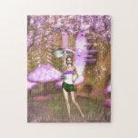 Paraguas púrpura rompecabezas