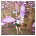 Paraguas púrpura teja