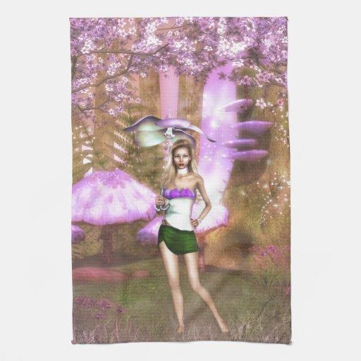 Paraguas púrpura toallas
